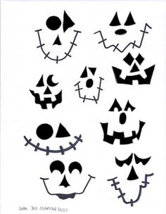 Large Jack O Lantern Faces Stencil                              …                                                                                                                                                                                 More