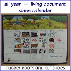 rubberboots and elf shoes: changing the way we use our calendar