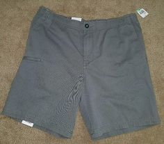 Izod mens size 34w smoked pearl gray walking short elastic waist casual