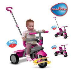 Smart Trike Breeze - Rosa og grå - Sparkesykler og sykler - Kategorier - extra-leker.no