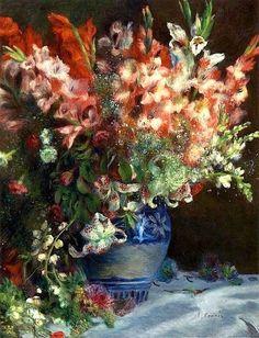 Renoir . Gladiolus