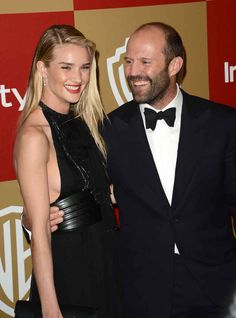 Rosie Huntington-Whiteley and Jason Statham.  Beautiful couple!