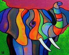 Multitusker The post Multitusker appeared first on Kunst und Design. Art Pop, L'art Du Vitrail, Images D'art, Pastel Art, Colorful Paintings, Stained Glass Art, Silk Painting, Art Design, Oeuvre D'art