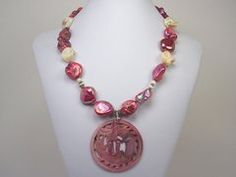 Carved Dragon Shell Pendant Necklace