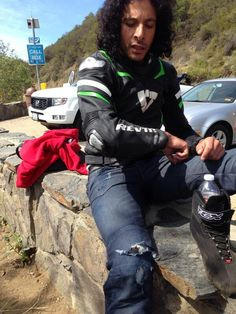 """Adam Waheed: ""Had an accident today on the road today (Low side) - glad I wore my @REVIT kit. Thxs for keeping me safe."""