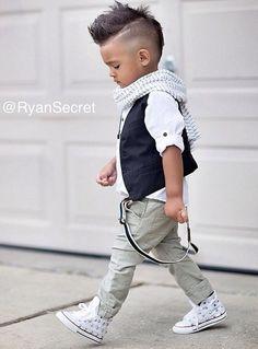 White studded chucks! Boys fashion