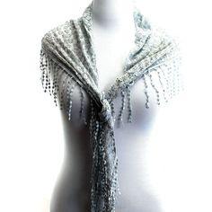 77.99$  Buy here - http://vicph.justgood.pw/vig/item.php?t=mxo3s3351289 - Craze Classic Triangle Romantic Flore Lightweight Fashion Scarf - Gray - T099