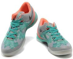 http://www.asneakers4u.com Nike Kobe 8 System Basketball Shoe Grey/Orange/Turquoise
