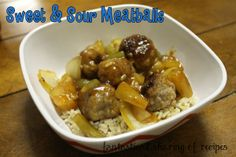 Sweet & Sour Meatballs - a savory delicious meal that you just can't stop eating! #meatballs #recipe