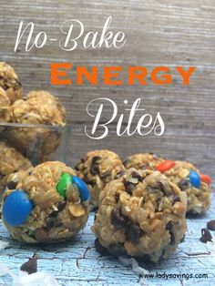 No Bake Energy Bites Recipe that are easy and fast  to make!  These will satisfy your craving for cookie dough and they are healthy for you!