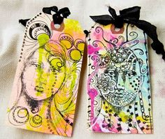 Stamped, Doodled, and Splattered Tags Tutorial by Cynthia Shaffer