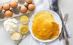 Recipe & ingredients for the best Lemon Ricotta Pancakes. Order online. Free delivery for new customers!