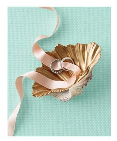 stunning shell ring holder via Martha Stewart.