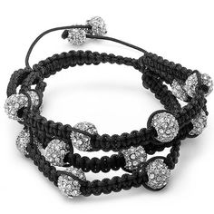 Bracelet Pave Unisex Hip Hop Style 10 mm Twelve White Disco Ball Faceted Bead 3 Row Unisex Adjustable. This lovely Hip Hop Bracelet has Twelve White Disco ball beads in Three rows. All our products with FREE gift box and 100% Satisfaction guarantee. SKU # 26252.
