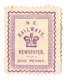 NEW ZEALAND 1890 Railway Newspapers 1d Violet. - 39159 - Mint - NZ Fiscals Railway Charges - New Zealand Stamps - NEW ZEALAND - EASTAMPS