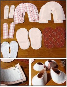 Ladies, how are you? Laís won from my mother a fabric slipper and she really loved it. She is in a phase that says that everyone . Ballerina Baby Showers, Baby Ballerina, Baby Ballet Shoes, Baby Girl Shoes, Baby Shoes Tutorial, Christening Shoes, Baby Shoes Pattern, Doll Shoes, Baby Sewing
