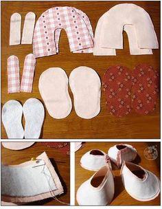 Sapatinhos de bebê em tecido - Passo a passo e molde