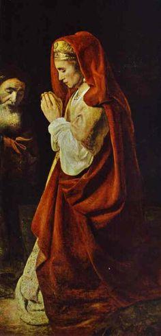 Rembrandt - Sacrifice of Manoah. Detail