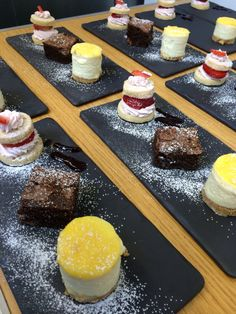Total hospitality- Trio of desserts