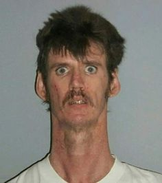 You've got to love that Camel in the headlights look! ~ 27 Crazy Funny Mugshots - Team Jimmy Joe