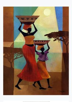 Mother's Helper Art Print by Keith Mallett