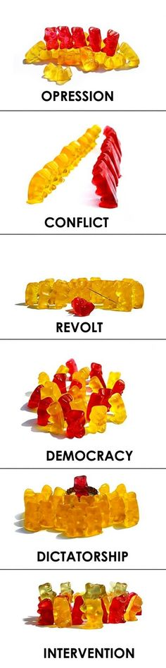Teaching government systems with gummy bears. This is just too great. They can even eat them after!