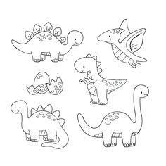 Coloring sheet, 80 Best Free Graphics on Freepik Cartoon Drawing For Kids, Cartoon Drawings, Easy Drawings, Dinosaur Fight, Cute Dinosaur, Coloring Sheets, Coloring Books, Coloring Pages, Dinosaur Tattoos