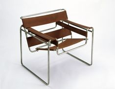 Bauhaus Furniture:  Marcel Breuer: Club chair, model B3; Wassily 1925 - the first chair to be made of tubular steel is a 20th century design icon.  Breuer took inspiration for the frame from his bicycle and designed the chair whilst he was a Master at the Bauhaus.
