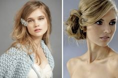 tousled-hairstyle-love the second pic with the loose tied hair with bangs pulled to side!