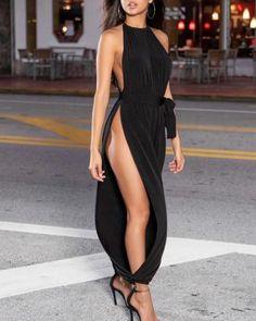 Shop Sexy Trending Jumpsuits – Chic Me offers the best women's fashion Jumpsuits deals Trend Fashion, Look Fashion, Womens Fashion, High Fashion, Sexy Outfits, Sexy Dresses, Fashion Outfits, 00s Mode, Belle Nana