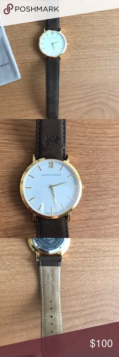 Larson and Jennings watch Larson and Jennings 40mm Lugano watch with brown leather strap Accessories Watches