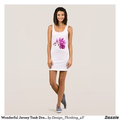 Wonderful Jersey Tank Dress In Flower Design