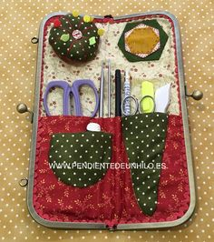Sewing Crafts, Sewing Projects, Sewing Kits, Sewing Case, Sewing Machine Accessories, Pouch Pattern, Presents For Friends, Needle Book, Crewel Embroidery