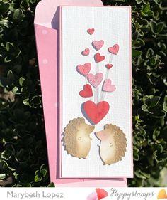 Pretty Cards, Love Cards, Saint Valentine, Valentines, Memory Box Cards, Hedgehog, Organization, Memories, How To Make