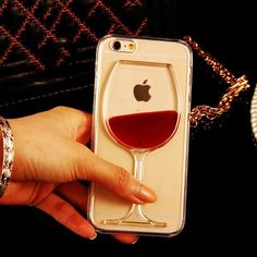 3D red wine iPhone case