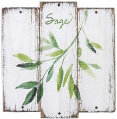 Loving this 'Sage' Herb Wall Art on Modern Kitchen Wall Decor, Kitchen Wall Design, Wood Wall Decor, Kitchen Wall Art, Sage Herb, Decoupage, Herb Wall, French Country Kitchens, Country Farmhouse
