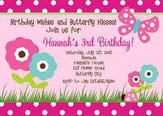 birthday invites for girls - Google Search