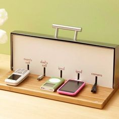 From a Bread Box to a Charging Station This would be great to have at the desk