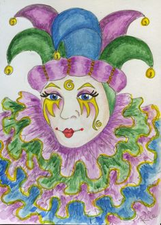 A Sketch a Day- Day 69 Clowns/Jesters by Valerie Harrison