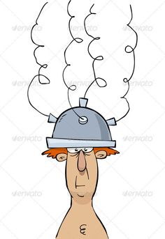 Helmet ...  cable, cartoon, character, electric, electrical, electrode, experience, experiment, fun, helmet, isolated, men, science, vector, wire