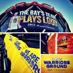 27 hours until Game 3. #WarriorsGround is ready. Is #DubNation ready? warriors.com/playoffs