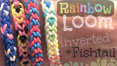 Rainbow Loom! This is the inverted fishtail design. Learn how to make this simple bracelet by watching the tutorial on SoCraftastic (My YouTube channel). It can even be made without a loom.
