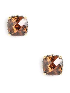 Our Amber Cushion Cut Studs... luxe + elegant.