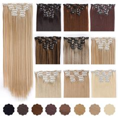 Cheap clip in hair, Buy Quality clip in hair extensions directly from China clip ins Suppliers: AISI BEAUTY 16 Clips Silky Straight Synthetic Clip in Hair Extensions for Women False Hairpiece Heat Resistant Brown Bodies, Brazilian Hair Weave, Black Wig, Short Wigs, Hair Studio, Clip In Hair Extensions, Synthetic Wigs, Weave Hairstyles, Hair Pieces
