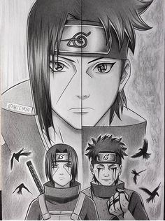 Itachi and Shisui Uchiwa, two naturally kind and strong people. Naruto Fan Art, Naruto Drawings, Shisui, Manga Anime, Naruto Sketch, Anime Sketch, Anime Naruto, Anime Characters, Naruto Pictures