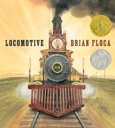 Locomotive by Brian Floca is the winner of the 2014 Caldecott Medal for best illustrated children's book. It's a visual journey of a family train trip taken in 1869 by a family traveling from Omaha to Sacramento. #Books #Kids #Caldecott_Medal_2014 #Brian_Floca