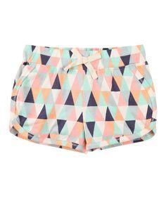 Pastel Geometric Track Shorts - Infant, Toddler & Girls #zulily #zulilyfinds
