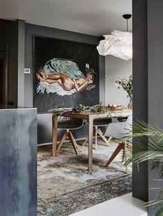 By Jeroen van Zwetselaar, ZW6 interior architecture, in collaboration with artist Casper Faassen. Binnenhuisarchitectuur, interieur ontwerp, design, styling, Vogue. Pictures by Alexander van Berge