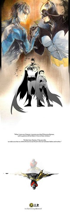 -To the man in suffering and the boy who died- Dick and Damian. I'm going to go cry in the corner now...