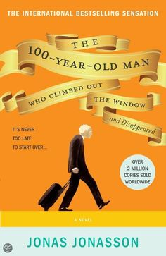 Jonas Jonasson - The 100-Year-Old Man Who Climbed Out the Window and Disappeared | boek 46 - ★★★★☆ | Hyperion 2013, 480 bladzijden | Op zijn honderdste verjaardag ontvlucht een man het door hem zo gehate bejaardencentrum en ontvreemdt bij het busstation een zware koffer die gevuld blijkt te zijn met zwart geld. | http://www.bol.com/nl/p/the-100-year-old-man-who-climbed-out-the-window-and-disappeared/9200000013715591/